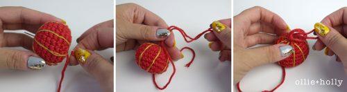 Free Chinese Lantern Ornament Amigurumi Crochet Pattern Step 6
