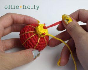 Free Chinese Lantern Ornament Amigurumi Crochet Pattern Step 8