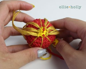 Free Chinese Lantern Ornament Amigurumi Crochet Pattern Step 9