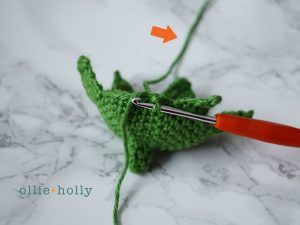 Free Eggplant Amigurumi Crochet Pattern Step 5