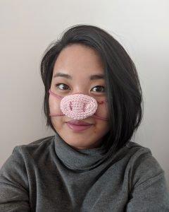 Free Pig Nose Warmer Crochet Pattern 2