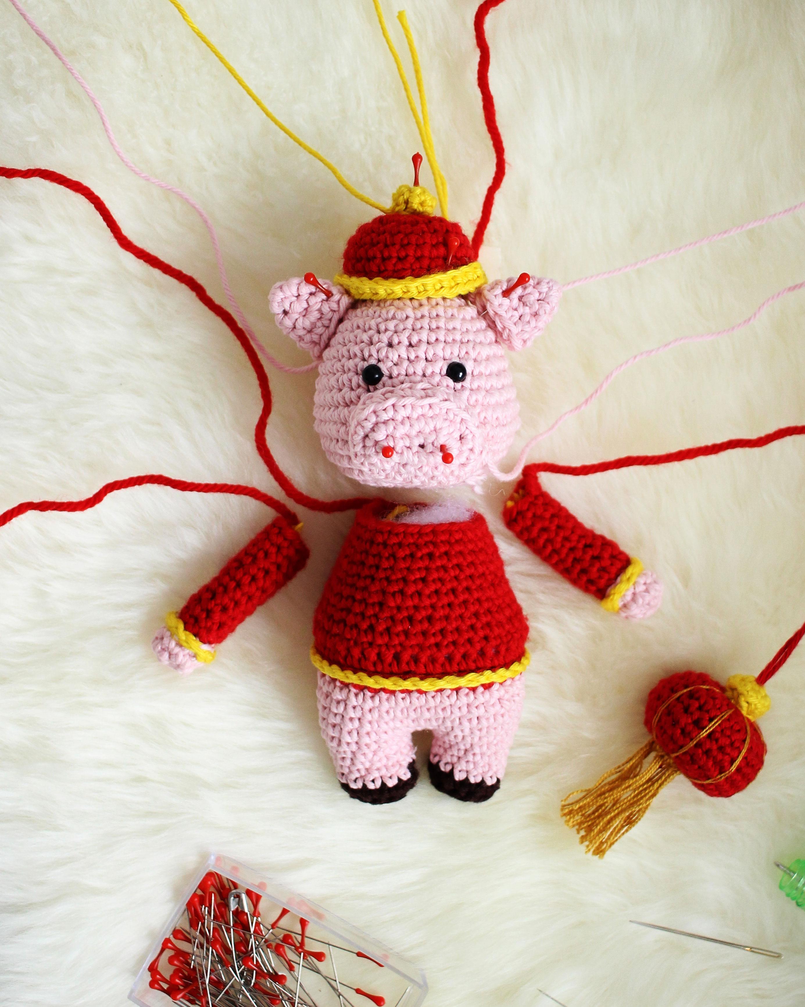 Chinese New Year Pig Amigurumi Pattern Notes 3