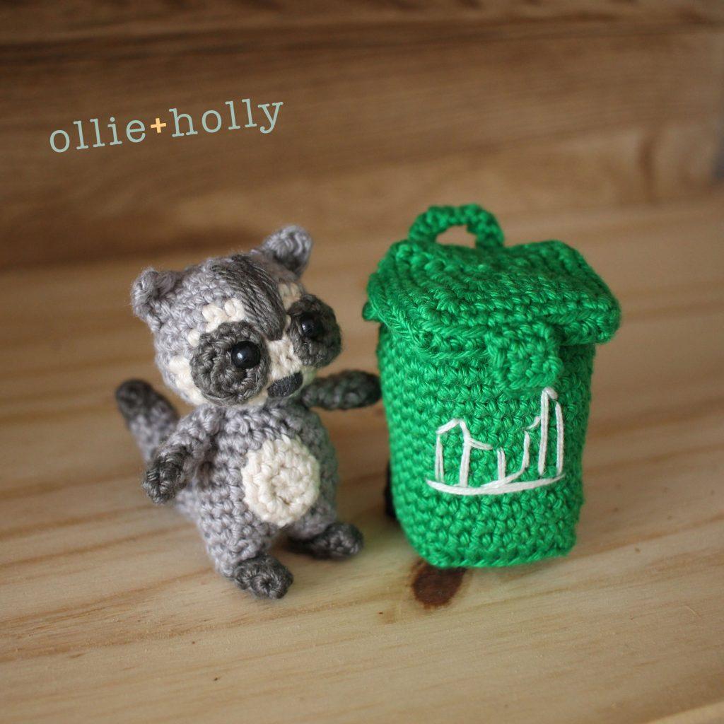 Toronto Racoon and Green Bin Amigurumi Crochet Pattern