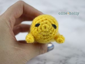 Free Gudetama Amigurumi Crochet Pattern Step 8
