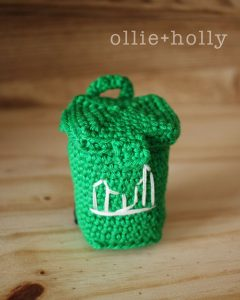 Free Toronto Green Bin Amigurumi Crochet Pattern Complete