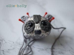 Free Toronto Raccoon Amigurumi Crochet Pattern Step 14