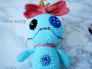 Free Disney Scrump Doll Amigurumi Crochet Pattern (Lilo & Stitch) Step 18