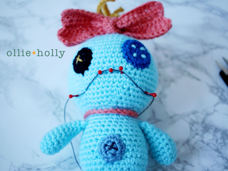 Free Disney Scrump Doll Amigurumi Crochet Pattern (Lilo & Stitch) Step 19