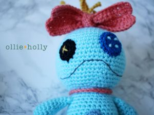 Free Disney Scrump Doll Amigurumi Crochet Pattern (Lilo & Stitch) Step 19
