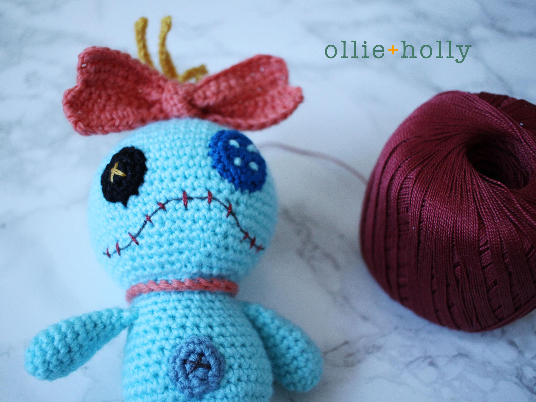 Free Disney Scrump Doll Amigurumi Crochet Pattern (Lilo & Stitch) Step 21