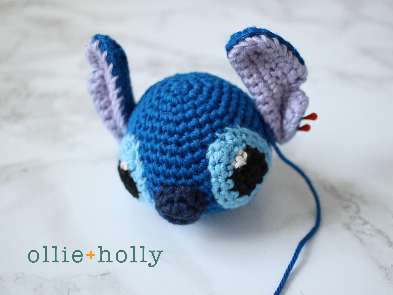 Free Disney Lilo & Stitch Amigurumi Crochet Keychain/Bag Charm Pattern Step 10