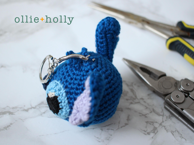 Free Disney Lilo & Stitch Amigurumi Crochet Keychain/Bag Charm Pattern Step 12