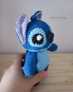 Disney Lilo and Stitch Amigurumi Crochet Side View