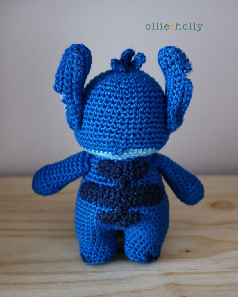 Lilo and Stitch Amigurumi Crochet Pattern Notes Back View