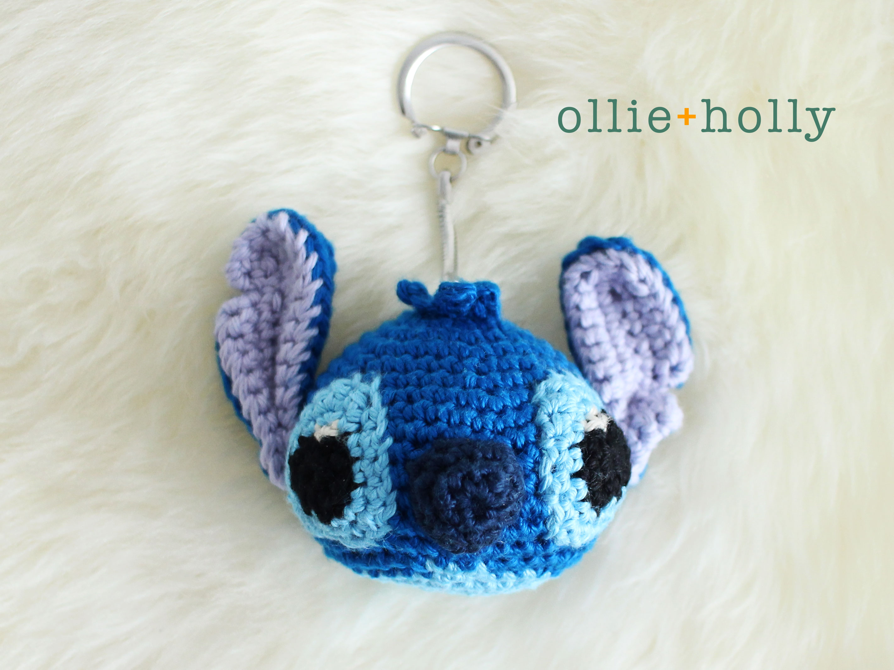 Free Disney Lilo & Stitch Amigurumi Crochet Keychain/Bag Charm Pattern Complete