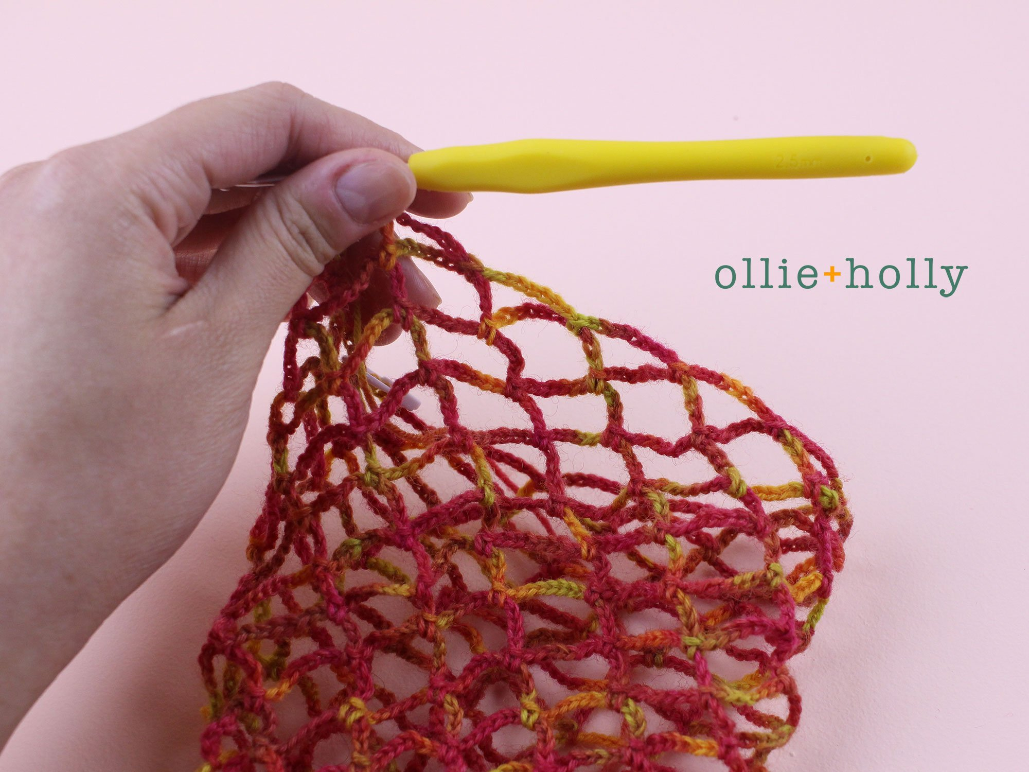 Free Crochet Grocery Produce Bag Pattern Step 7