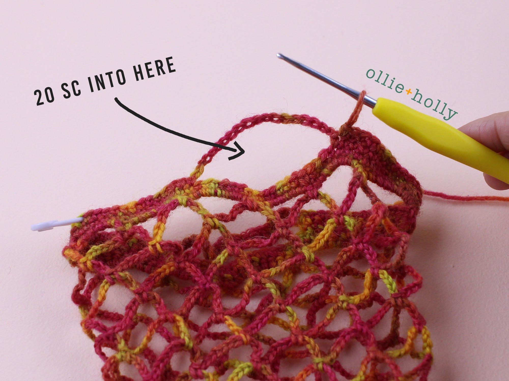 Free Crochet Grocery Produce Bag Pattern Step 11