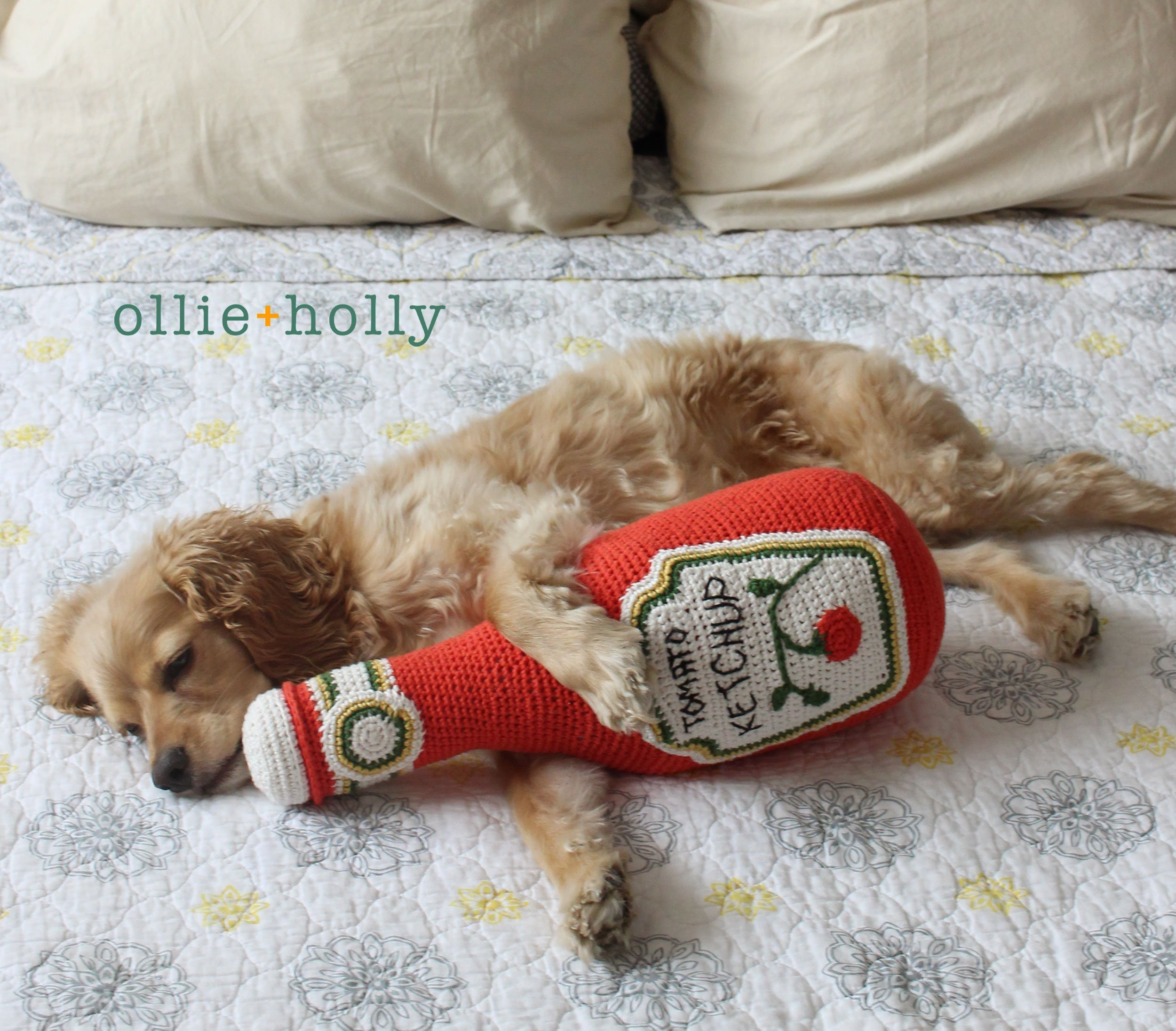 Free Ketchup Bottle Pillow Amigurumi Crochet Pattern