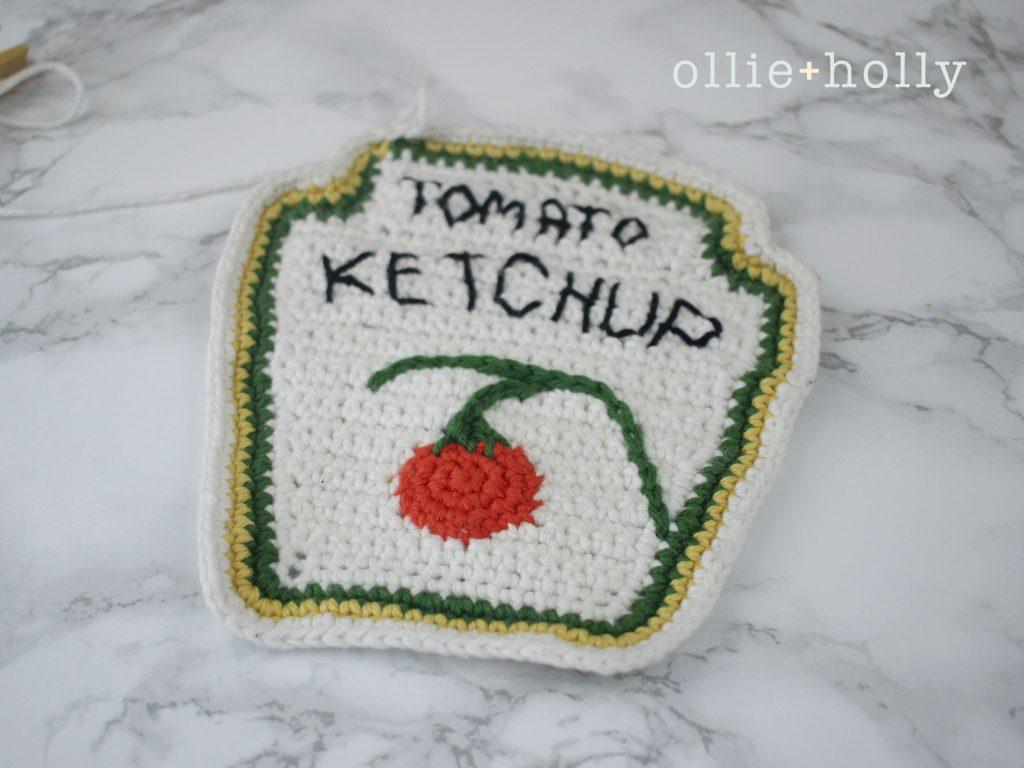 Free Ketchup Bottle Pillow Amigurumi Crochet Pattern Step 15
