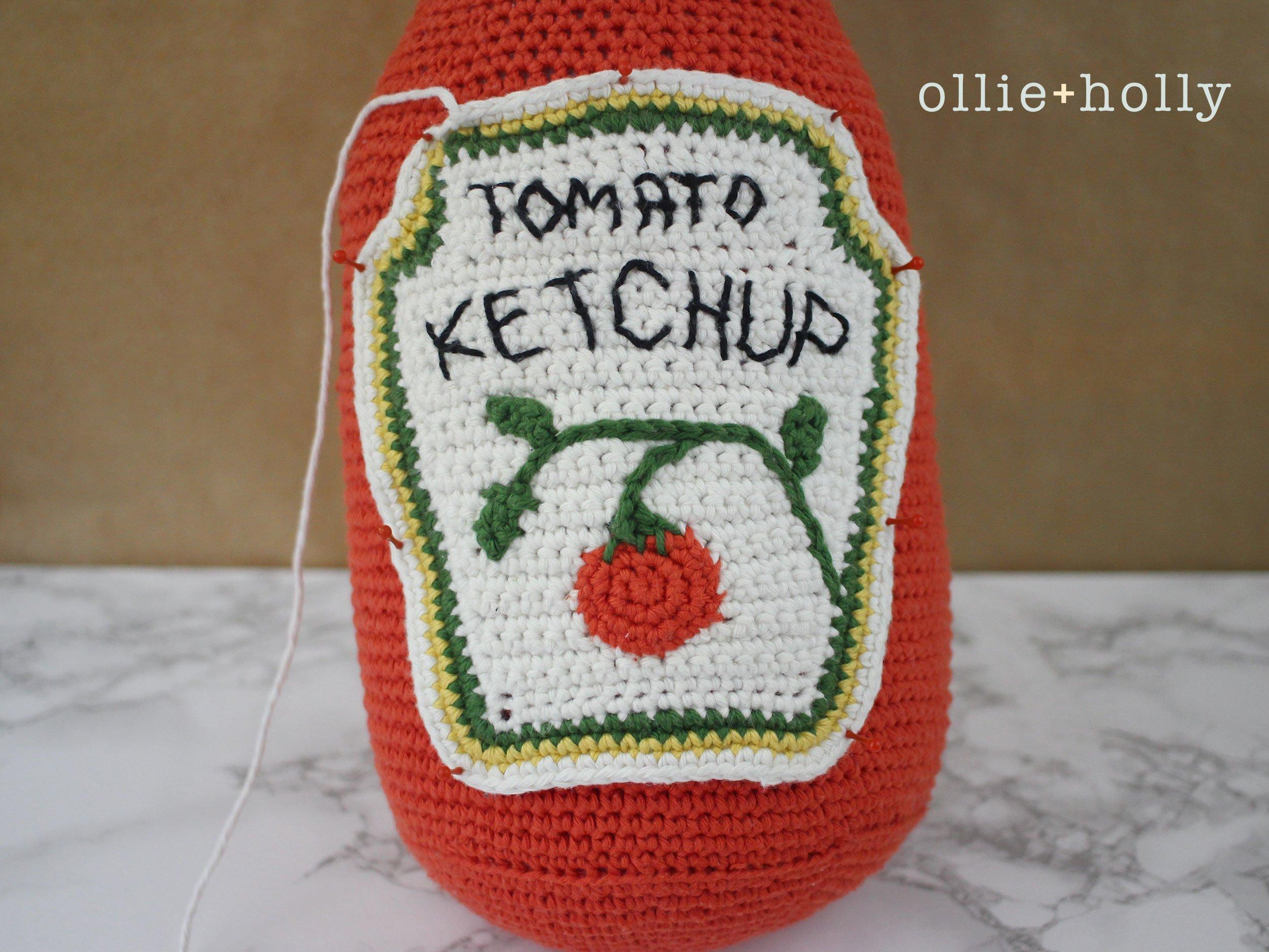 Free Ketchup Bottle Pillow Amigurumi Crochet Pattern Step 18