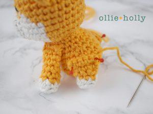 Free Shiba Inu Amigurumi Crochet Pattern Step 12