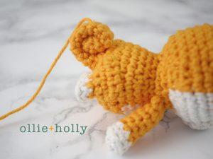 Free Shiba Inu Amigurumi Crochet Pattern Step 15