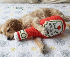 Free Ketchup Bottle Pillow Amigurumi Crochet Pattern