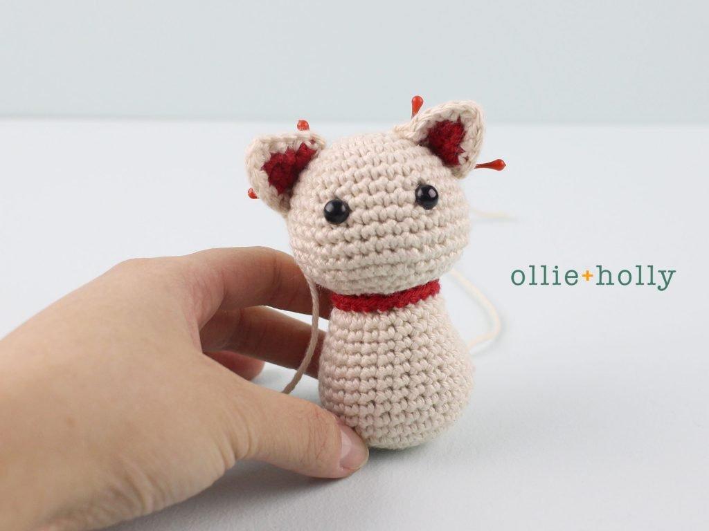 Free Maneki Neko Lucky Cat Amigurumi Crochet Pattern Step 14