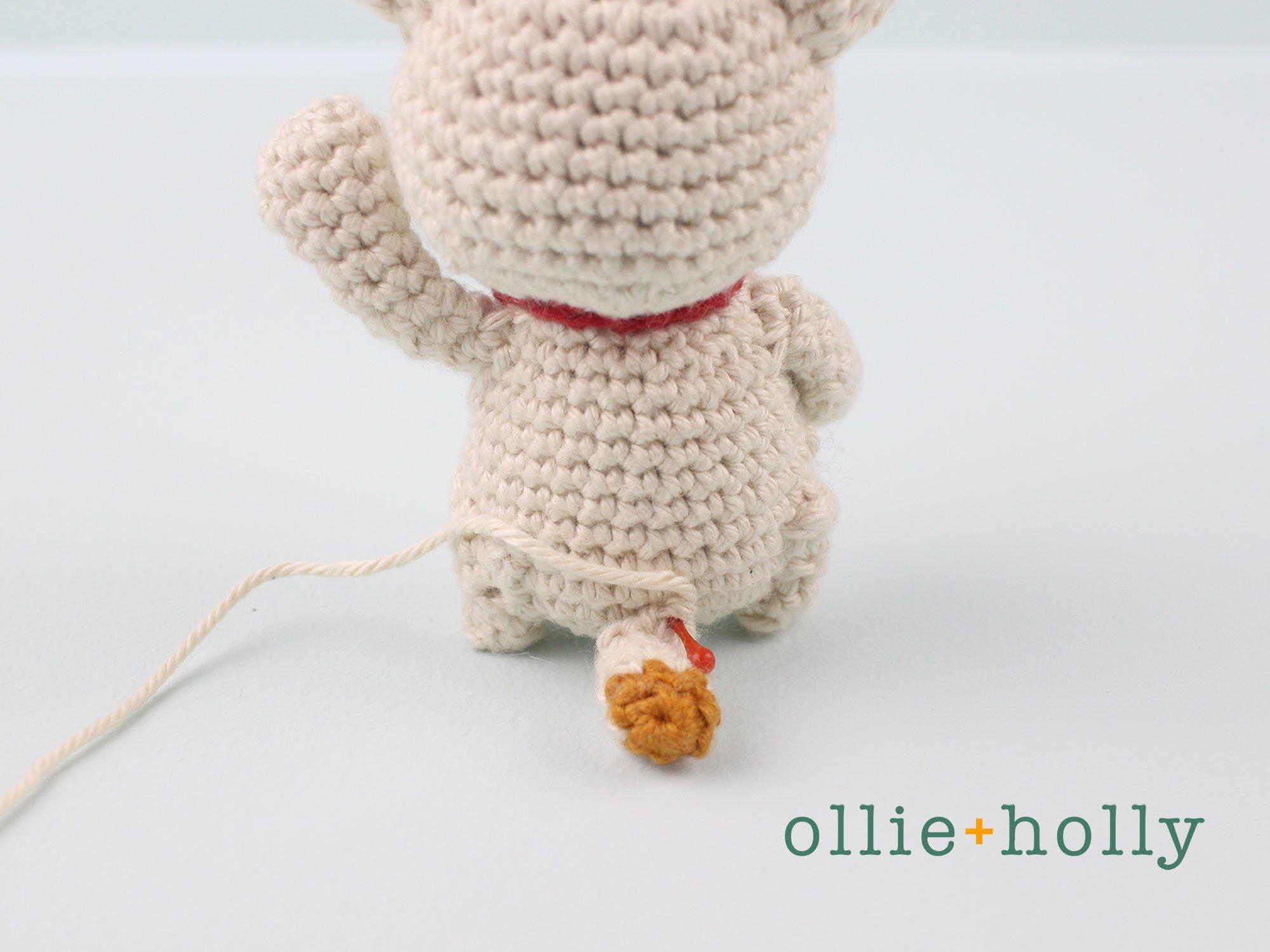 Free Maneki Neko Lucky Cat Amigurumi Crochet Pattern Step 18