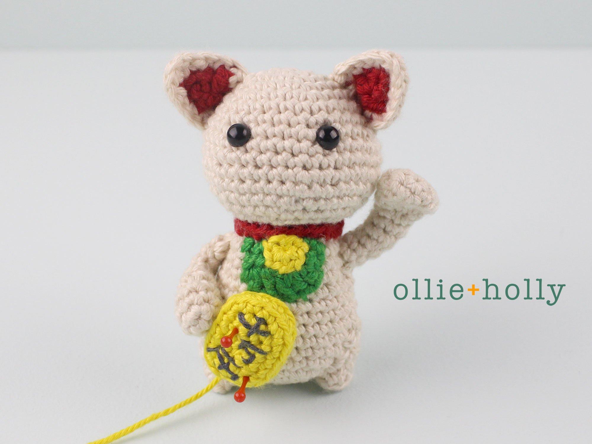 Free Maneki Neko Lucky Cat Amigurumi Crochet Pattern Step 20