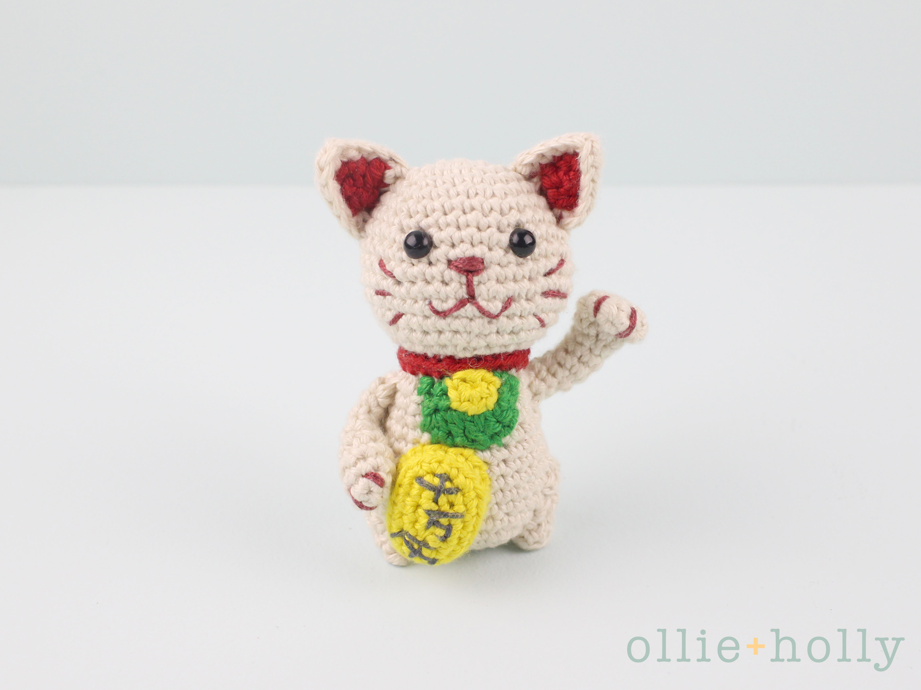 Free Maneki Neko Lucky Cat Amigurumi Crochet Pattern Complete