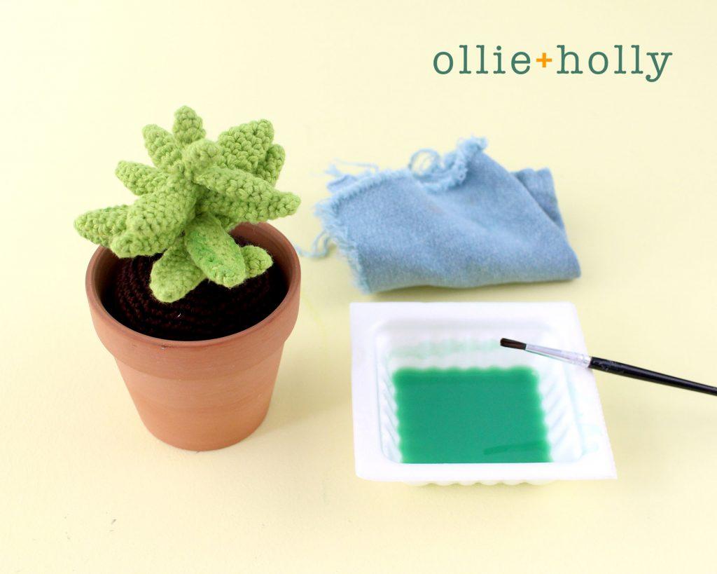 Free Sedum Adolphii Succulents (Golden Glow) Amigurumi Crochet Pattern Step 12