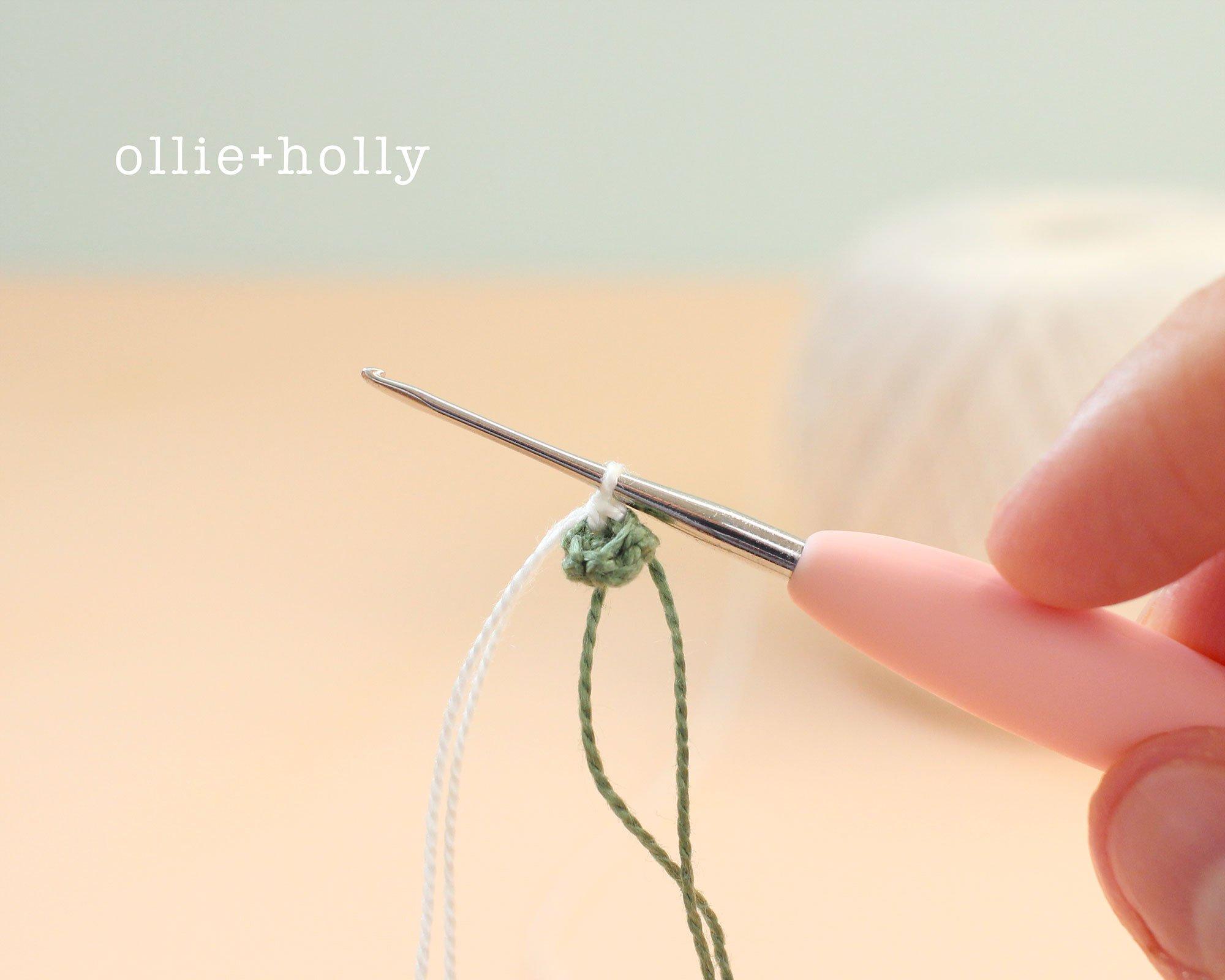 Free Baby's Breath Flower Crochet Pattern Step 1