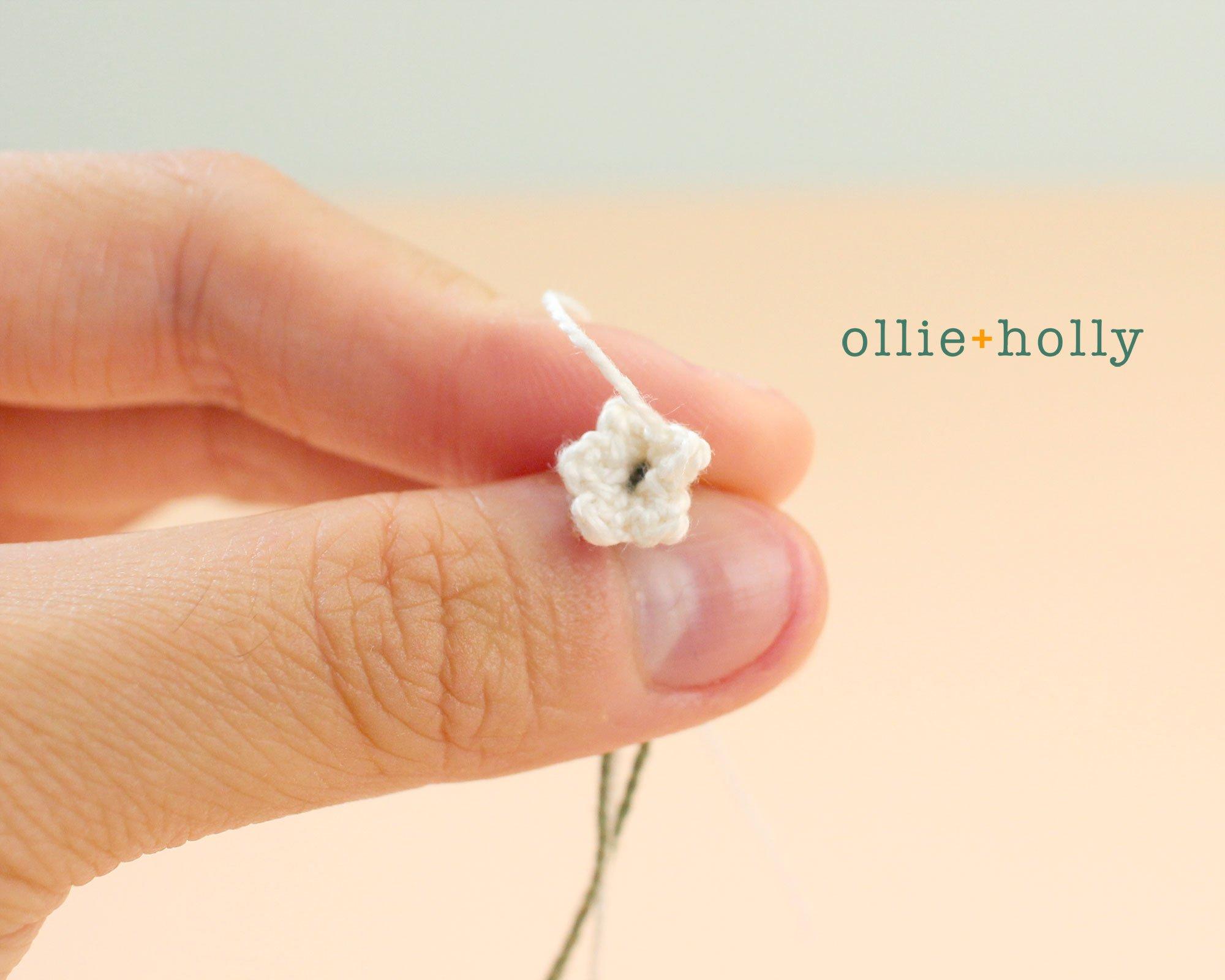 Free Baby's Breath Flower Crochet Pattern Step 2