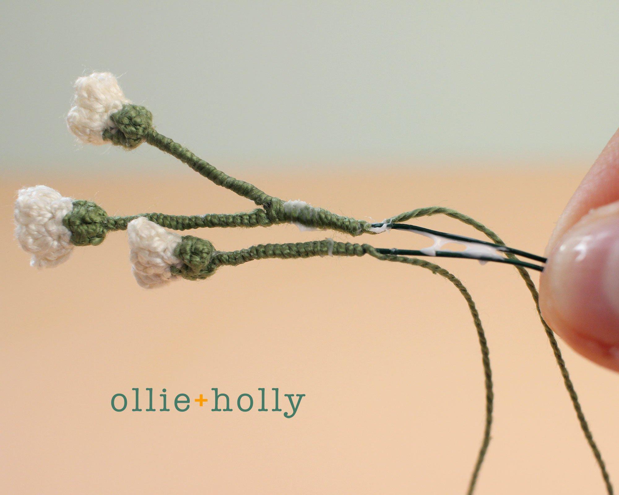 Free Baby's Breath Flower Crochet Pattern Step 7