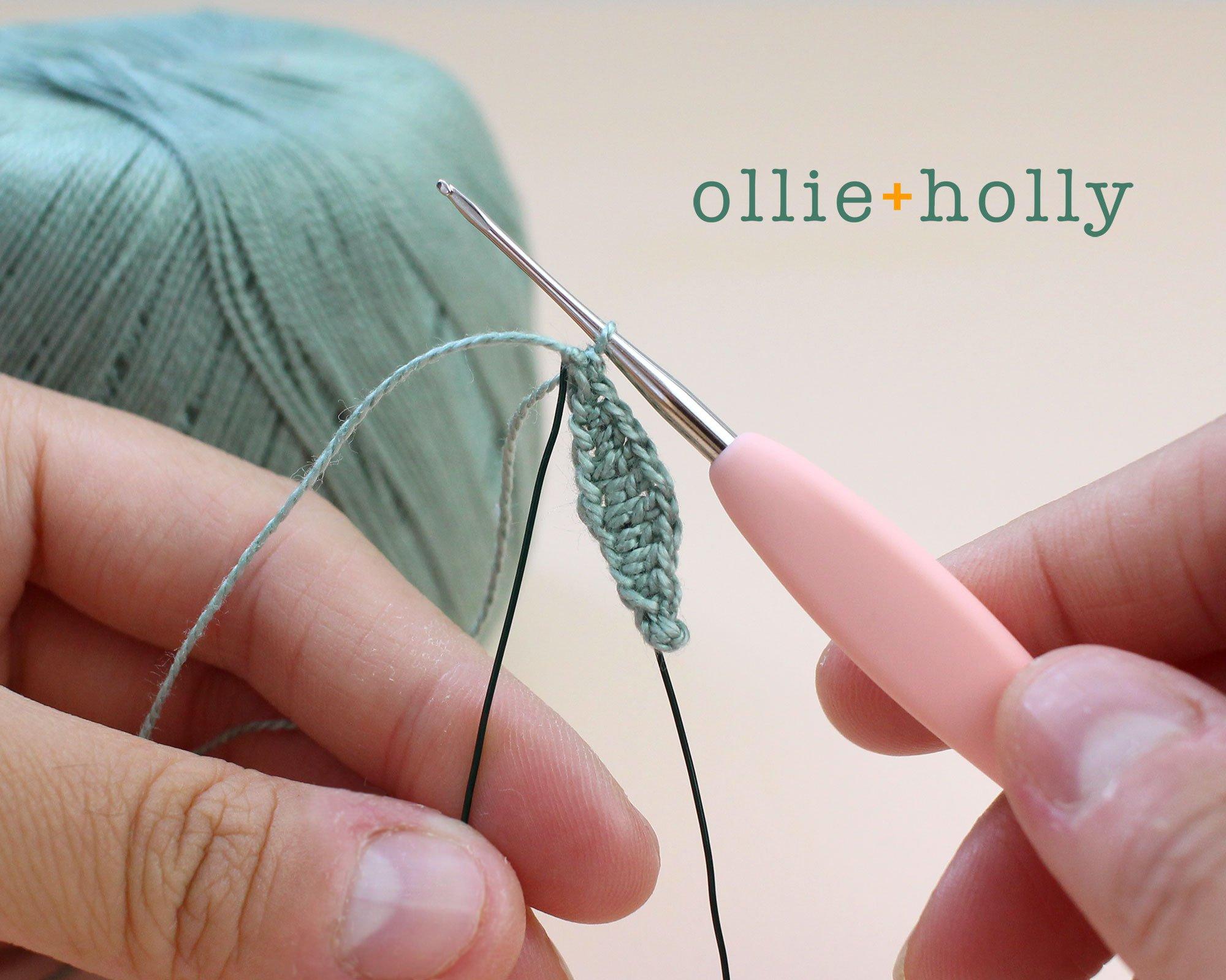 Free Eucalyptus Leaf Crochet Pattern Step 3