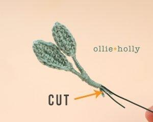Free Eucalyptus Leaf Crochet Pattern Step 9