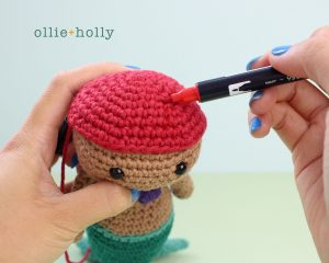Free Disney Ariel Little Mermaid Amigurumi Crochet Pattern Step 12