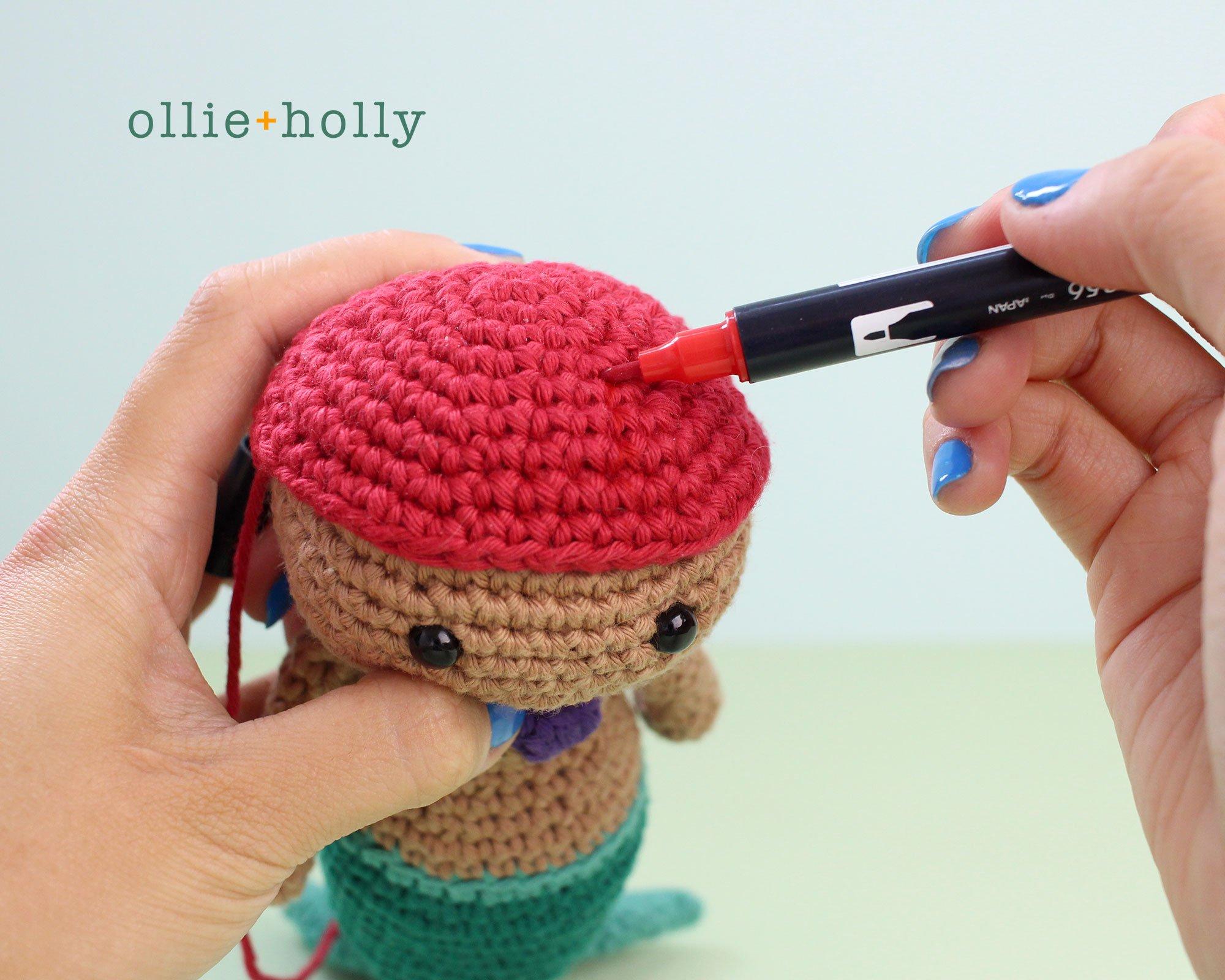 Free Disney Ariel Little Mermaid Amigurumi Crochet Pattern Step 12
