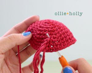 Free Disney Ariel Little Mermaid Amigurumi Crochet Pattern Step 21