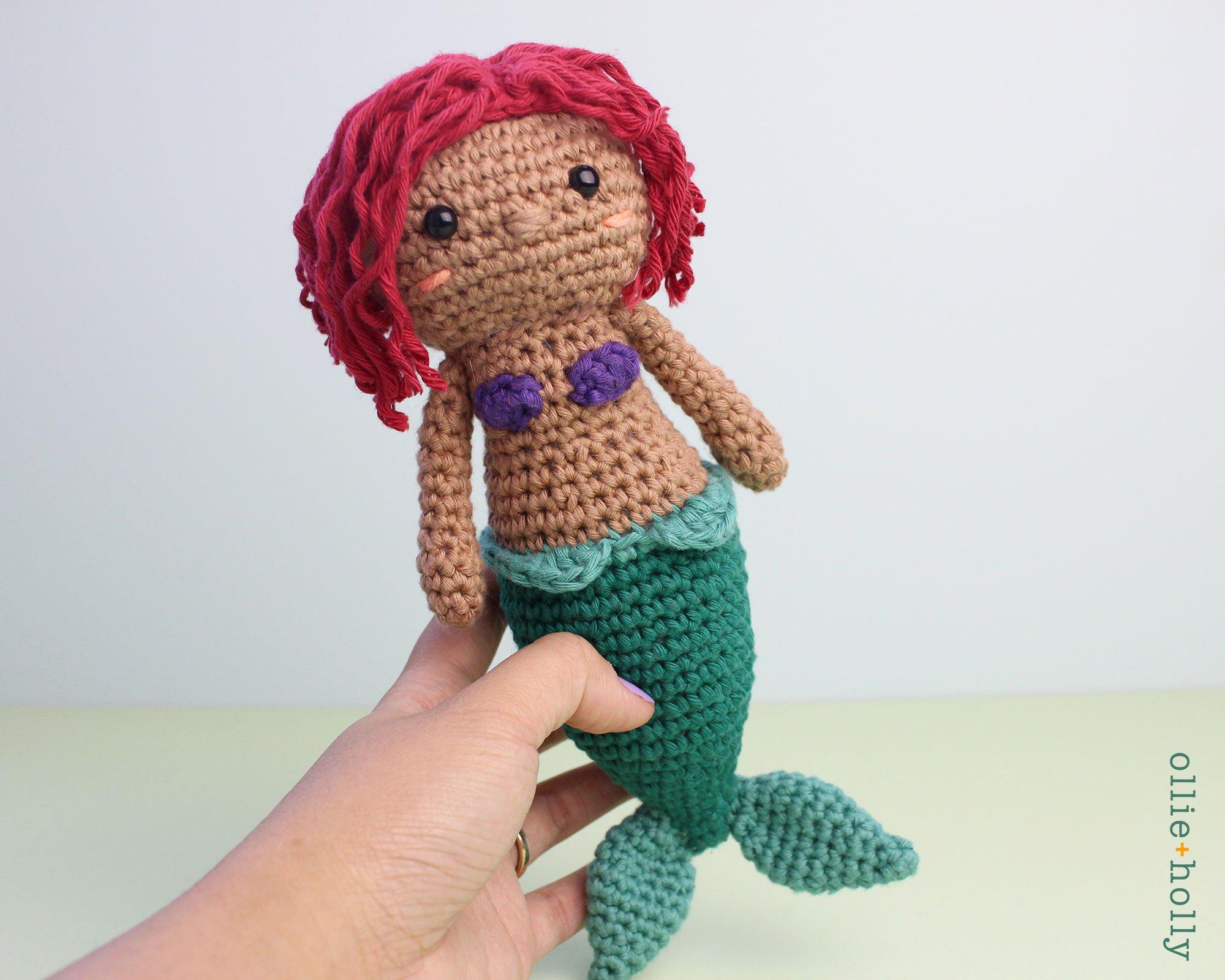Coral the Mermaid (Free Amigurumi Crochet Pattern) - Sweet Softies ... | 1600x2000