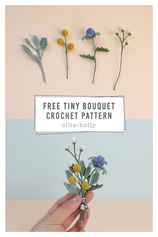 Free Tiny Flowers Bouquet Crochet Pattern
