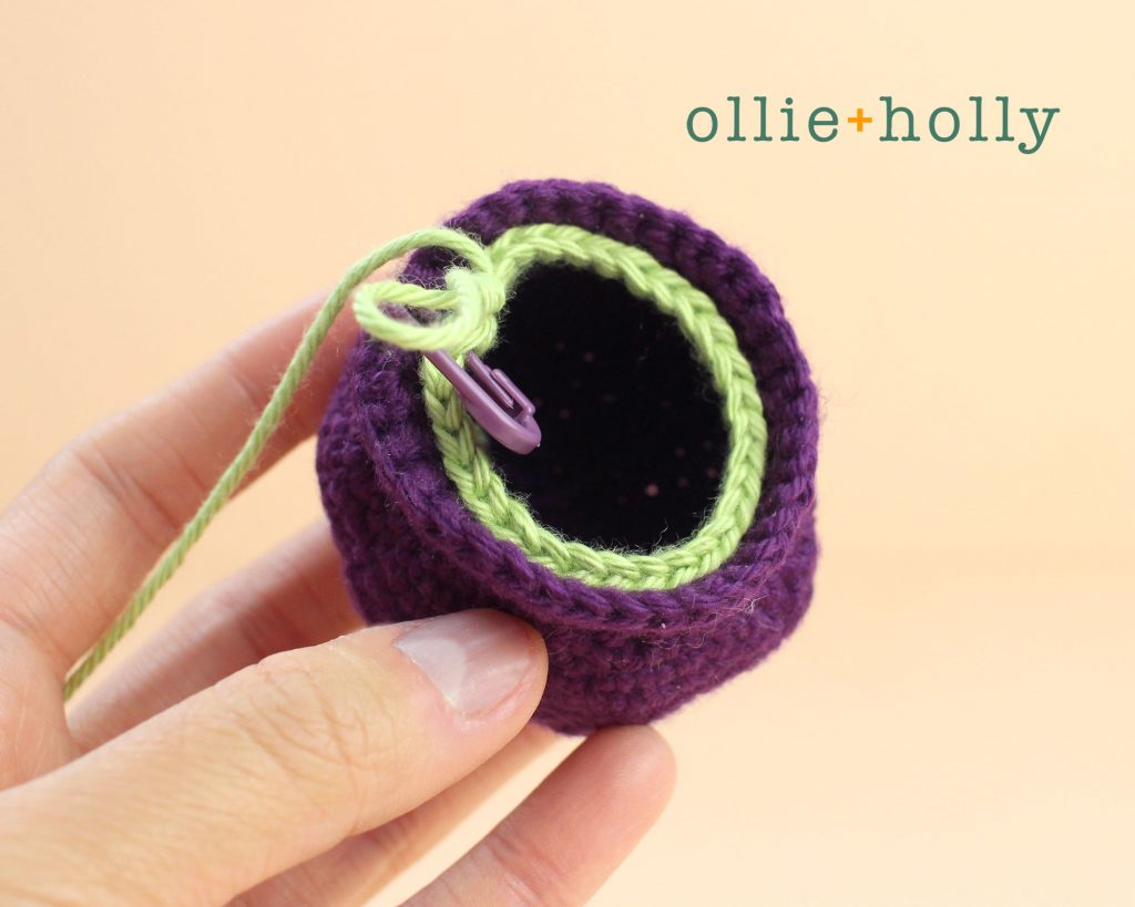 Free Halloween Witch's Cauldron Ornament Amigurumi Crochet Pattern Step 3