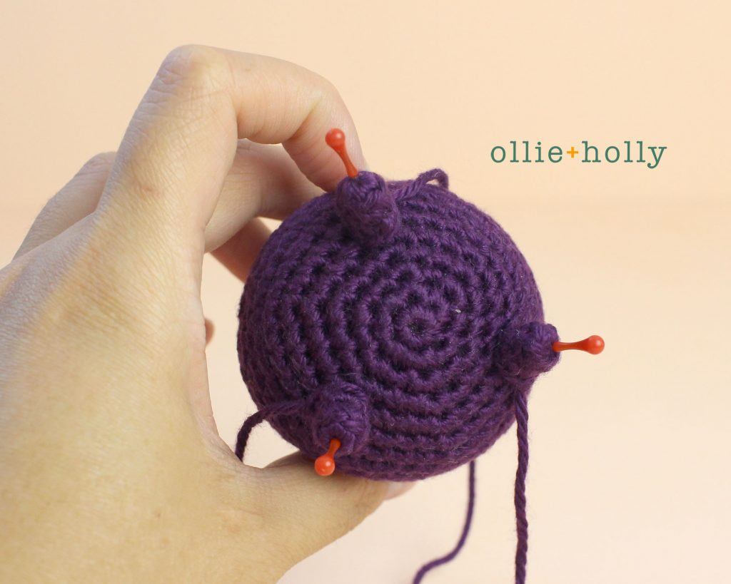 Free Halloween Witch's Cauldron Ornament Amigurumi Crochet Pattern Step 9
