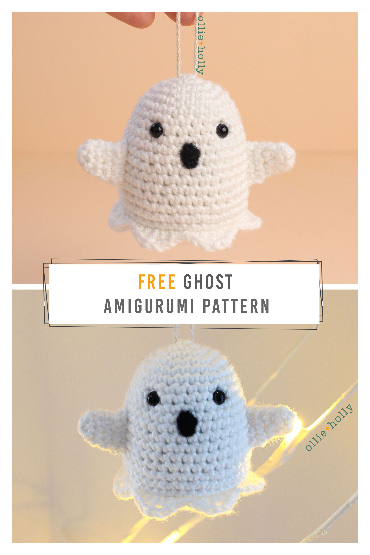 Free Halloween Ghost Amigurumi Ornament Crochet Pattern