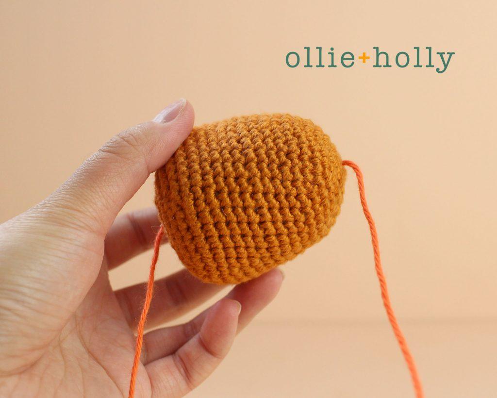Free Jack-o'-Lantern Pumpkin Ornament Amigurumi Crochet Pattern Step 4