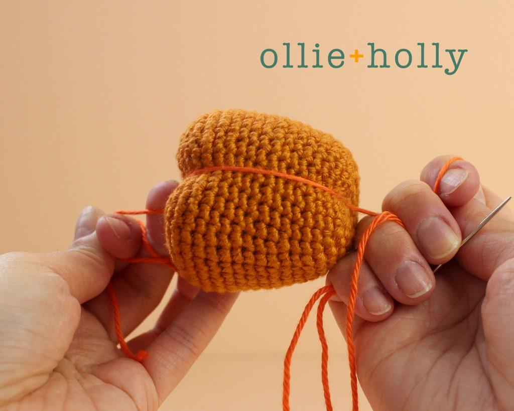 Free Jack-o'-Lantern Pumpkin Ornament Amigurumi Crochet Pattern Step 5