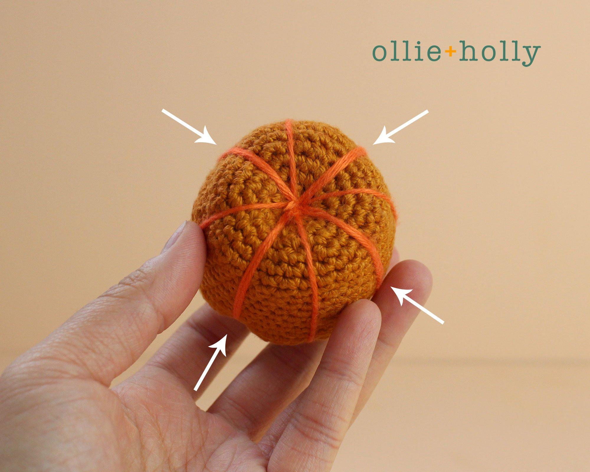 Free Jack-o'-Lantern Pumpkin Ornament Amigurumi Crochet Pattern Step 6