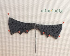 Free Halloween Bat Ornament Amigurumi Crochet Pattern Step 11