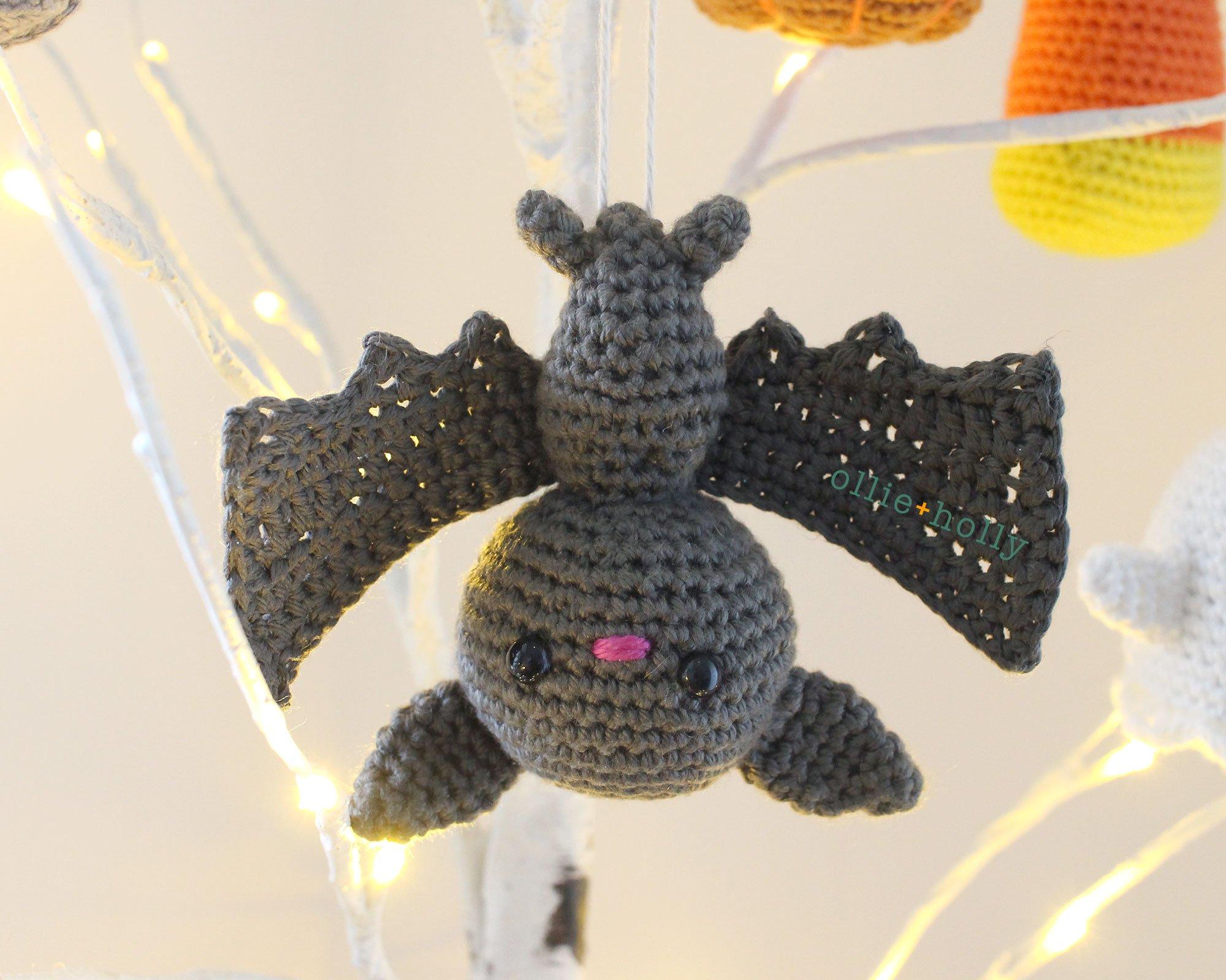 Free Halloween Bat Ornament Amigurumi Crochet Pattern Complete